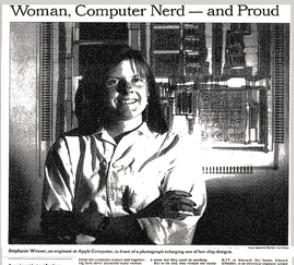 Woman Computer nerd